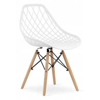 Krzesło nowoczesne ażurowe LUISE białe
