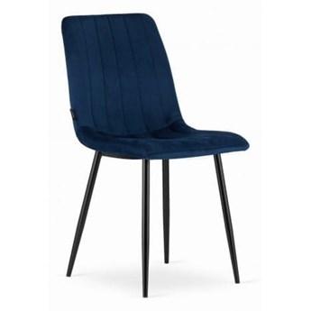 Krzesło tapicerowane do jadalni DC-1939 - Welur granatowy 64