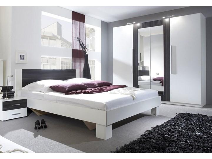 Sypialnia VERA II : Powierzchnia spania łóżka - 160x200cm, Wybierz kolor - Biały + czarny orzech Kategoria Zestawy mebli do sypialni