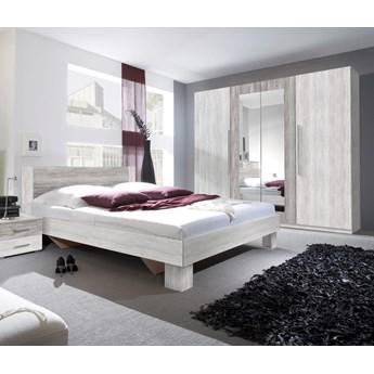 Sypialnia VERA II : Powierzchnia spania łóżka - 180x200cm, Wybierz kolor - arctic pine jasny + arctic pine ciemny