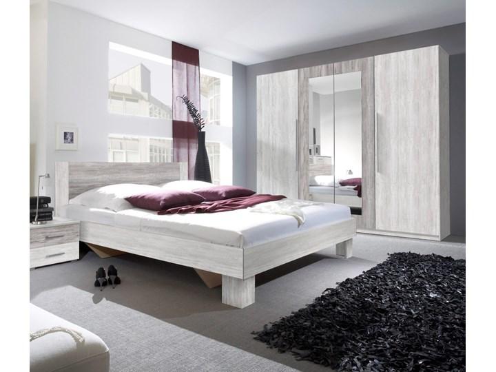 Sypialnia VERA II : Powierzchnia spania łóżka - 180x200cm, Wybierz kolor - arctic pine jasny + arctic pine ciemny Kategoria Zestawy mebli do sypialni Kolor Szary