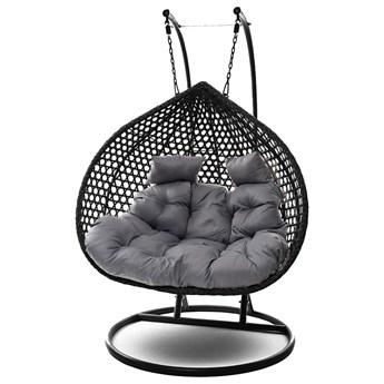 Fotel wiszący dwuosobowy - kokon dwuosobowy czarny SC-028