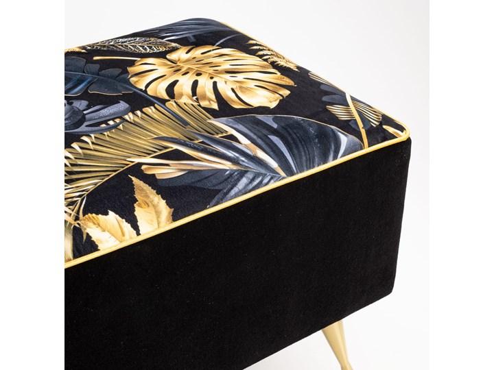 Ławka tapicerowana do przedpokoju Retro Fancy Gold Materiał obicia Tkanina