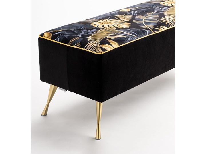 Ławka tapicerowana do przedpokoju Retro Fancy Gold Pomieszczenie Sypialnia Materiał nóżek Drewno