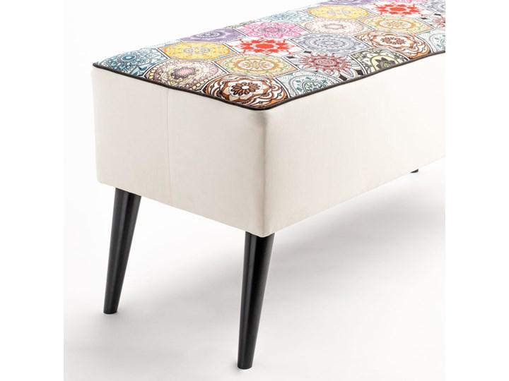 Ławka tapicerowana do przedpokoju Retro Hexagons Materiał obicia Skóra ekologiczna