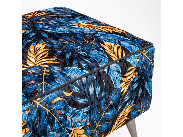 Ławka tapicerowana do przedpokoju Retro Monstera Materiał nóżek Drewno