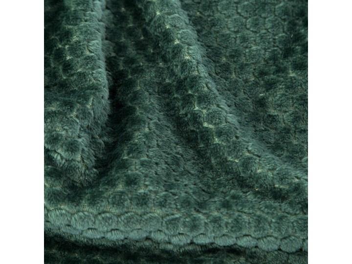 Koc 150x200 Zoe super miękki koc flano z efektem 3D, kolor ciemny zielony 150x200 cm Wzór Z nadrukiem Poliester Kategoria Koce i pledy