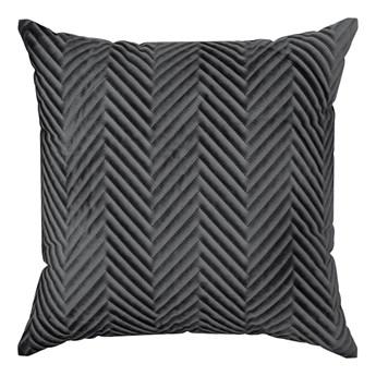 Poszewka na poduszkę czarna w rozmiarze 45x45 z miękkiej tkaniny velvet