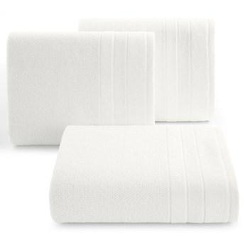 Ręcznik kąpielowy biały 50x90 frotte 500g/m2 elegancki z welurową bordiurą, bardzo puszysty i miękki Linea