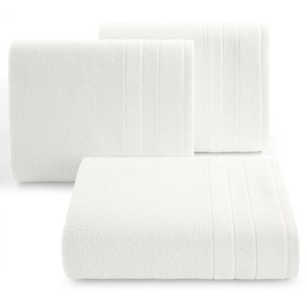 Ręcznik kąpielowy biały 70x140 frotte 500g/m2 elegancki z welurową bordiurą, bardzo puszysty i miękki Linea