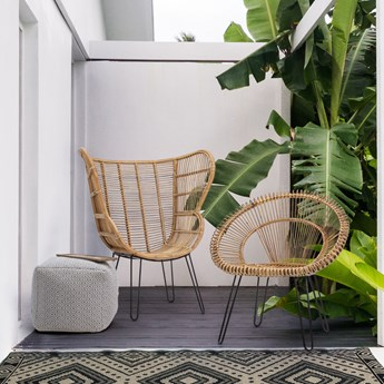Fotel Estefan 100x118 cm naturalny