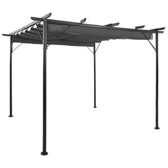 VidaXL Pergola ogrodowa ze zwijanym dachem, 3x3 m, antracyt, 180 g/m²