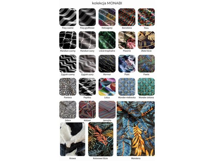 Ławka tapicerowana do przedpokoju Retro Tropic Materiał nóżek Metal Materiał nóżek Drewno