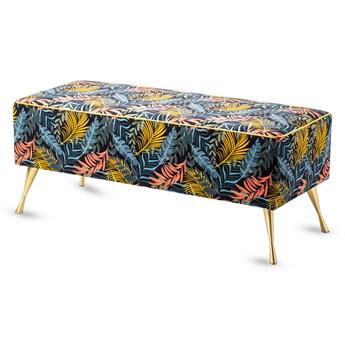 Ławka tapicerowana do przedpokoju Retro Tropic