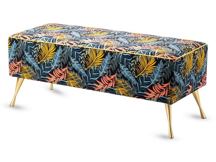 Ławka tapicerowana do przedpokoju Retro Tropic Materiał obicia Tkanina