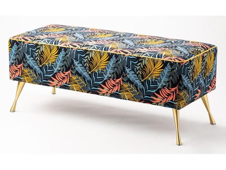 Ławka tapicerowana do przedpokoju Retro Tropic Materiał nóżek Drewno