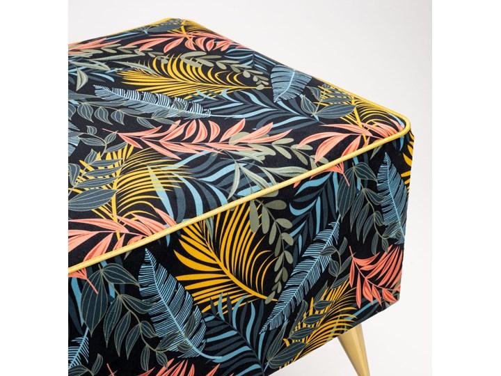 Ławka tapicerowana do przedpokoju Retro Tropic Materiał obicia Tkanina Styl Vintage