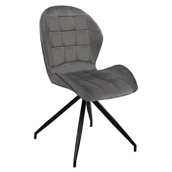 Krzesło HALS II VELVET szare SIGNAL