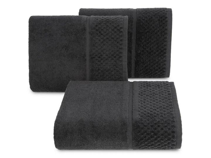 Ręcznik kąpielowy czarny 50x90 frotte 550g/m2 elegancki z welurową bordiurą, Ibiza 50x90 cm Bawełna Kategoria Ręczniki