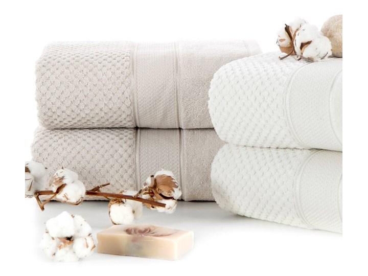 Ręcznik kąpielowy granatowy 70x140 frotte 500g/m2 elegancki z welurową bordiurą, Jessi Bawełna 70x140 cm Kategoria Ręczniki
