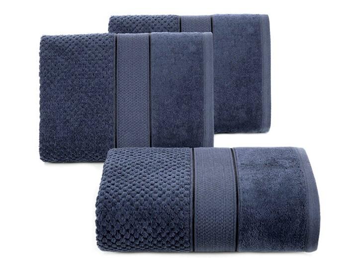 Ręcznik kąpielowy granatowy 70x140 frotte 500g/m2 elegancki z welurową bordiurą, Jessi