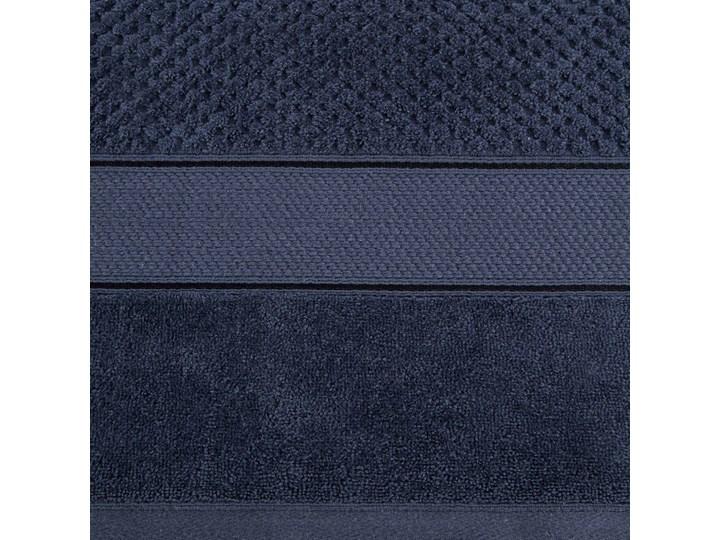 Ręcznik kąpielowy granatowy 70x140 frotte 500g/m2 elegancki z welurową bordiurą, Jessi 70x140 cm Bawełna Kategoria Ręczniki