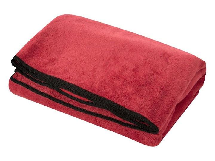 Ręcznik plażowy z mikrofibry czerwony z czarną lamówką szybkoschnący rozmiar 80x160 idealny na plażę ...