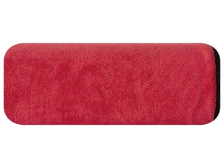 Ręcznik plażowy z mikrofibry czerwony z czarną lamówką szybkoschnący rozmiar 80x160 idealny na plażę, basen, siłownię Ręcznik kąpielowy Ręcznik z kapturkiem 80x160 cm Kolor Czarny