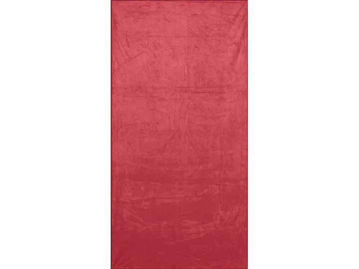 Ręcznik plażowy z mikrofibry czerwony z czarną lamówką szybkoschnący rozmiar 80x160 idealny na plażę, basen, siłownię Ręcznik kąpielowy 80x160 cm Ręcznik z kapturkiem Kolor Czarny Kategoria Ręczniki
