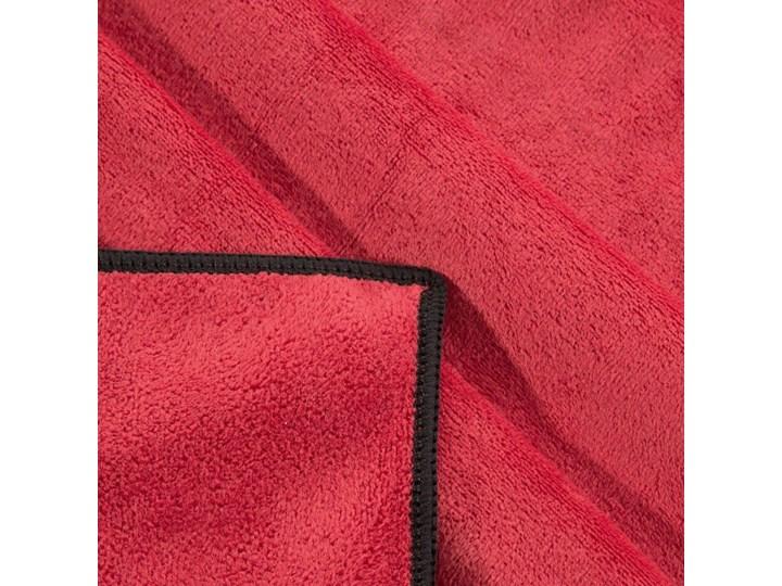 Ręcznik plażowy z mikrofibry czerwony z czarną lamówką szybkoschnący rozmiar 80x160 idealny na plażę, basen, siłownię 80x160 cm Ręcznik z kapturkiem Ręcznik kąpielowy Kolor Czarny