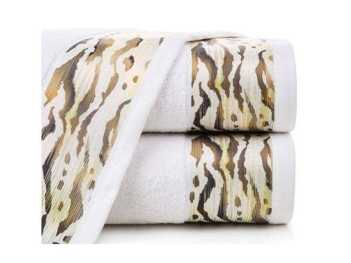 Ręcznik Eva Minge Cecil biały w rozmiarze 70x140 z drukowaną bordiurą 70x140 cm Bawełna Ręcznik kąpielowy Kategoria Ręczniki