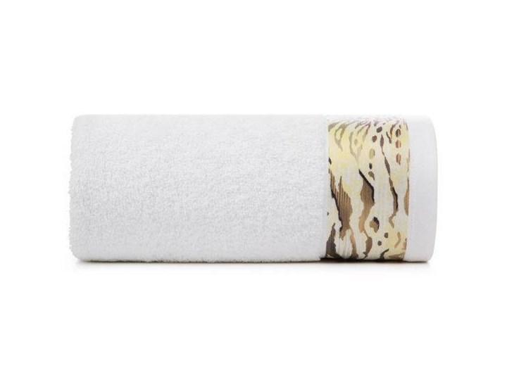 Ręcznik Eva Minge Cecil biały w rozmiarze 70x140 z drukowaną bordiurą