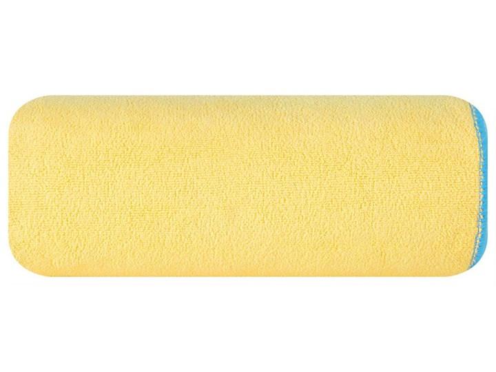 Ręcznik plażowy z mikrofibry żółty z niebieską lamówką szybkoschnący rozmiar 80x160 idealny na plażę, basen, siłownię Ręcznik kąpielowy 80x160 cm Ręcznik z kapturkiem Kolor