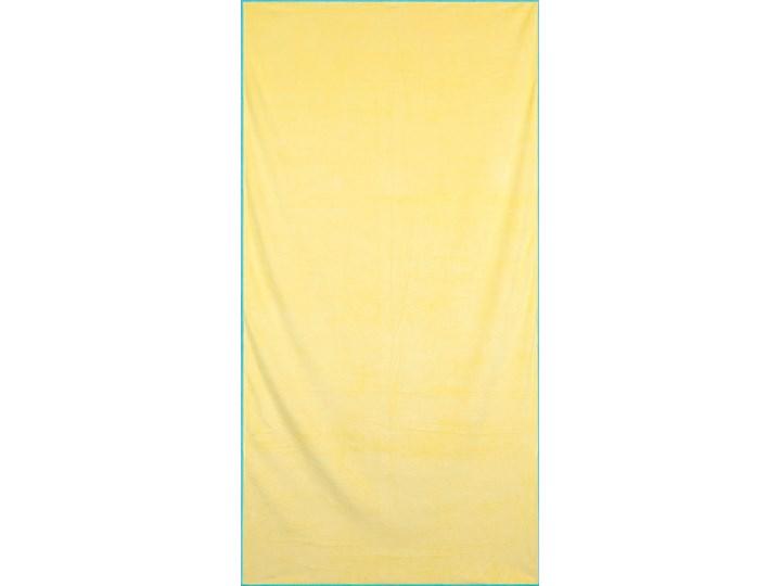 Ręcznik plażowy z mikrofibry żółty z niebieską lamówką szybkoschnący rozmiar 80x160 idealny na plażę, basen, siłownię Ręcznik z kapturkiem Ręcznik kąpielowy 80x160 cm Kolor