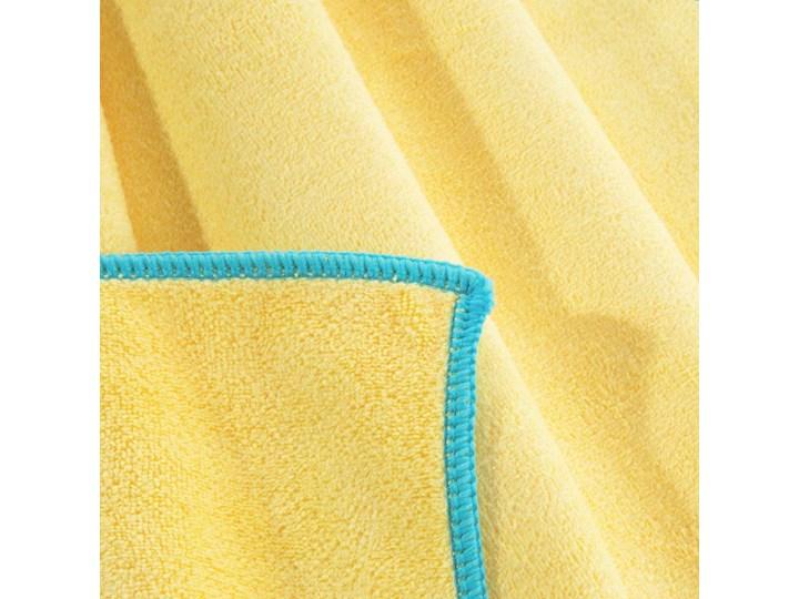 Ręcznik plażowy z mikrofibry żółty z niebieską lamówką szybkoschnący rozmiar 80x160 idealny na plażę, basen, siłownię Ręcznik kąpielowy Kolor 80x160 cm Ręcznik z kapturkiem Kategoria Ręczniki