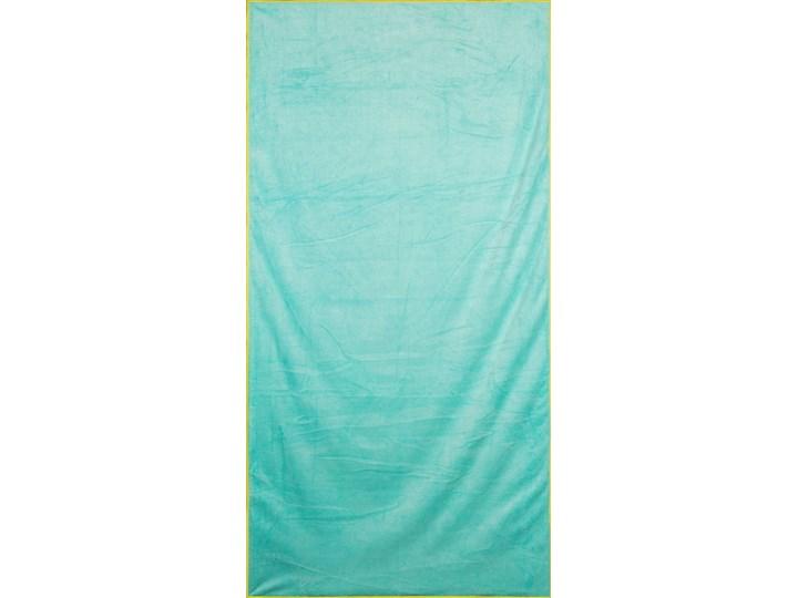 Ręcznik plażowy z mikrofibry niebieski z żółtą lamówką szybkoschnący rozmiar 80x160 idealny na plażę, basen, siłownię 80x160 cm Ręcznik z kapturkiem Ręcznik kąpielowy Kolor Żółty Kategoria Ręczniki