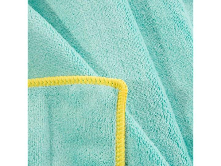 Ręcznik plażowy z mikrofibry niebieski z żółtą lamówką szybkoschnący rozmiar 80x160 idealny na plażę, basen, siłownię Ręcznik kąpielowy 80x160 cm Ręcznik z kapturkiem Kolor Żółty