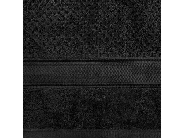 Ręcznik kąpielowy czarny 70x140 frotte 500g/m2 elegancki z welurową bordiurą, Jessi Bawełna 70x140 cm Kategoria Ręczniki