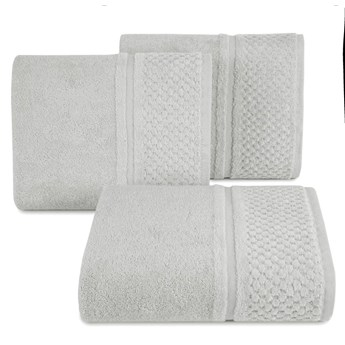 Ręcznik kąpielowy stalowy szary 50x90 frotte 550g/m2 elegancki z welurową bordiurą, Ibiza
