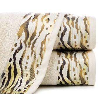 Ręcznik Eva Minge Cecil beżowy w rozmiarze 70x140 z drukowaną bordiurą