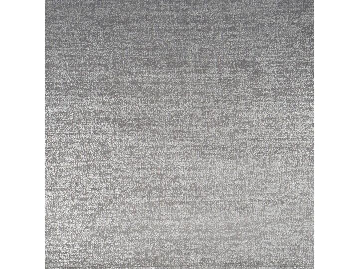 Zasłona gotowa welwet 140x270 Ambi srebrna ze srebrnym nadrukiem na taśmie marszczącej, zaciemniająca Poliester 140x270 cm Zasłona zaciemniająca Mocowanie Taśma