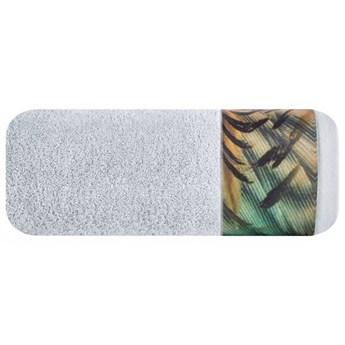Ręcznik Eva Minge Collin srebrny w rozmiarze 50x90 z drukowaną bordiurą