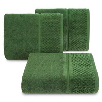 Ręcznik kąpielowy zielony 50x90 frotte 550g/m2 elegancki z welurową bordiurą, Ibiza