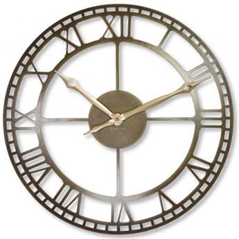 Metalowy zegar ścienny stare złoto 50cm