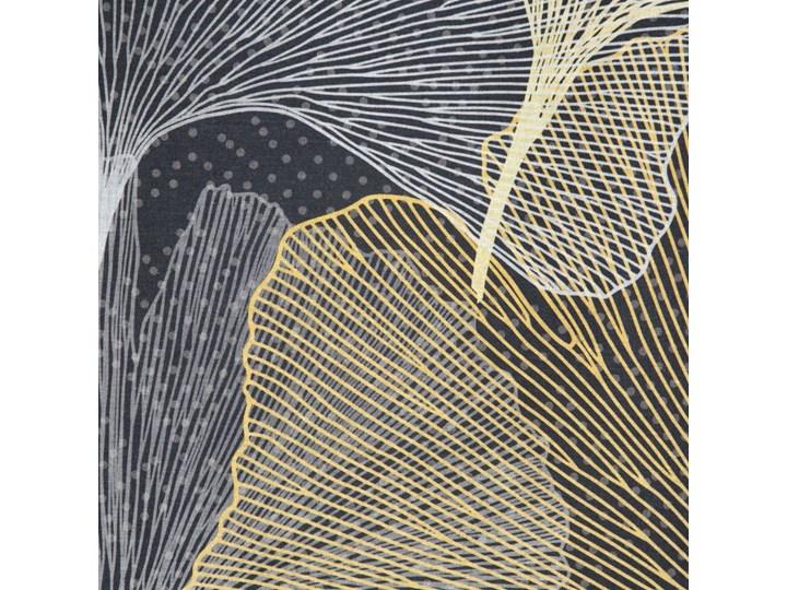 Pościel 160x200 bawełna hiszpańska czarna złota z nadrukiem liści miłorzębu, premium Satyna 160x200 cm Rozmiar poduszki 70x80 cm Pomieszczenie Pościel do sypialni
