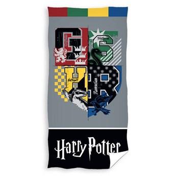 Ręcznik plażowy szary 70x140 - 100% bawełna dla dzieci i młodzieży, Harry Potter