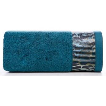 Ręcznik Eva Minge Carla turkusowy w rozmiarze 50x90 z drukowaną bordiurą