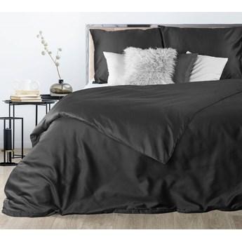 Czarna pościel 160x200 satyna bawełniana wysokogatunkowy materiał