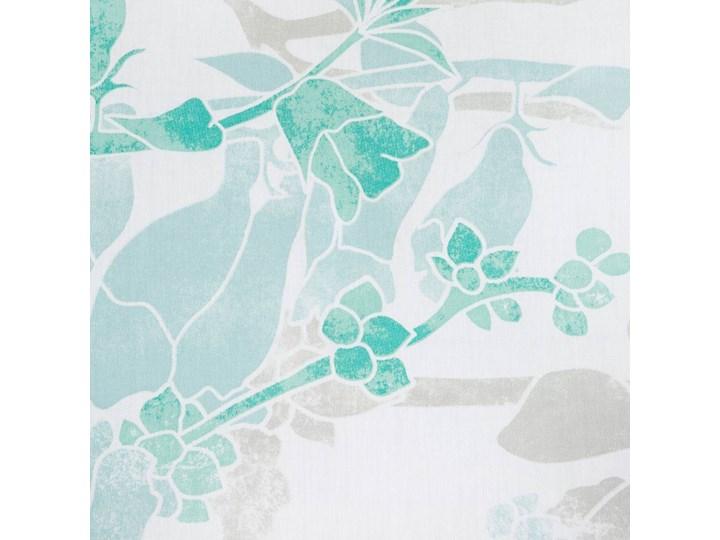 Pościel satyna bawełniana biało niebieska 220x200 kwiaty, komplet pościeli dla dwóch osób 200x220 cm Bawełna Pomieszczenie Pościel do sypialni