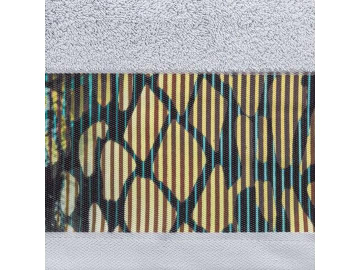 Ręcznik Eva Minge Carla srebrny w rozmiarze 50x90 z drukowaną bordiurą 50x90 cm Bawełna Ręcznik kąpielowy Kategoria Ręczniki